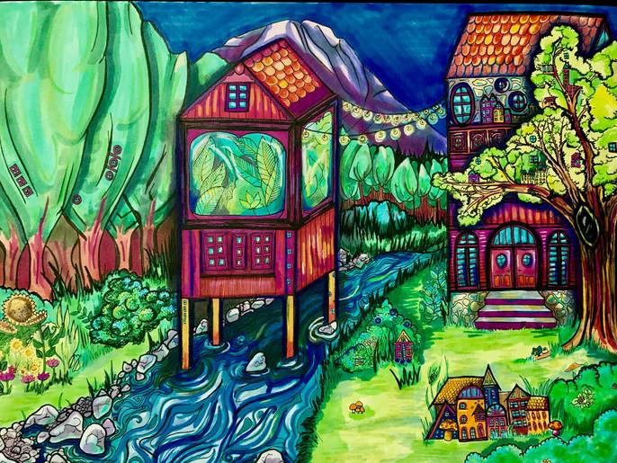 Treehouse no. 2 (Cascade Daydream)