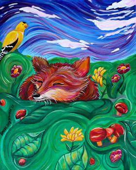 Undisturbed (Fox and Goldfinch)