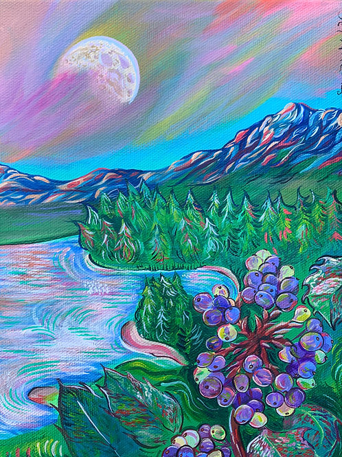 PRINT Oregon Grape Overlook