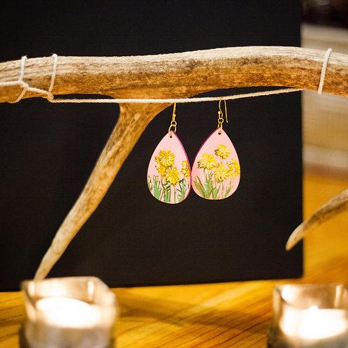 Dandelion no. 1 // Hand-painted Earrings