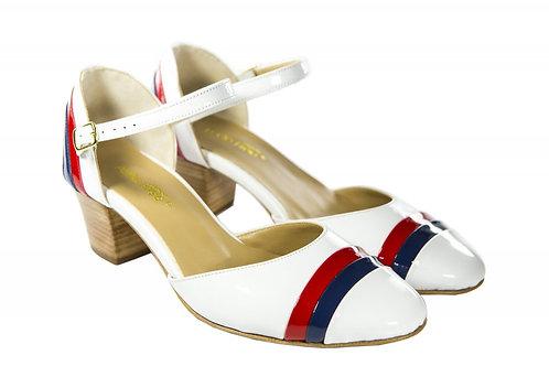 Sapato Fem. Mod. Bicolor - Ref 00026