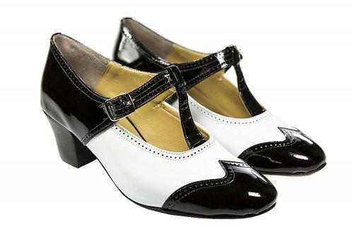 Sapato Fem. Mod. Bicolor - Ref 00023