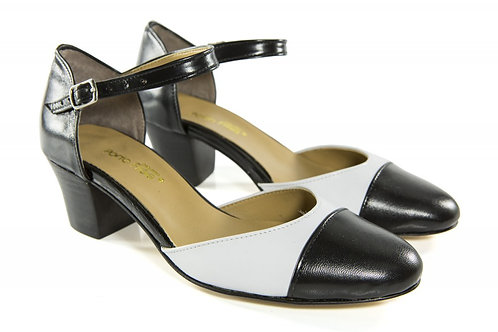 Sapato Fem. Mod. Bicolor - Ref 00024