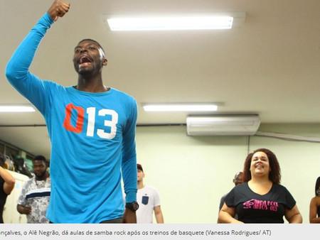 Alê Negrão se divide entre o basquete e as aulas de samba rock