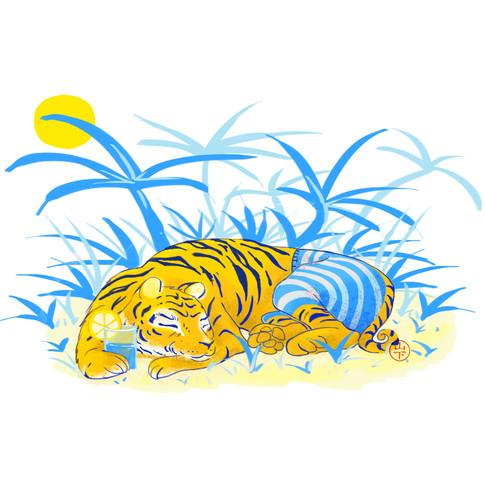 Tigre au soleil
