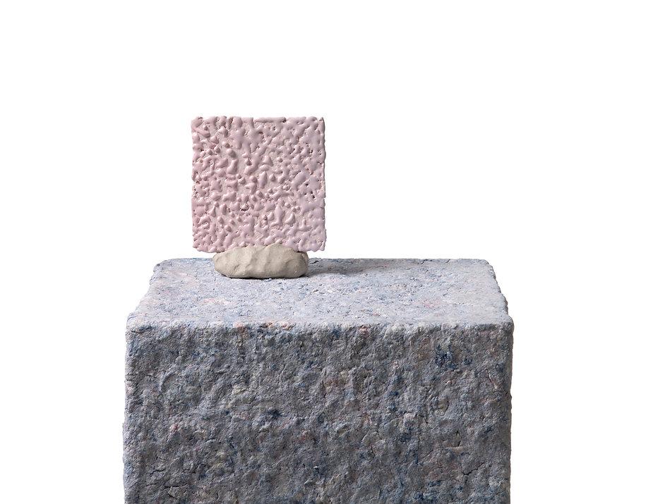 'Plinth_set-up_1',_Papier_mâché_plinth,_