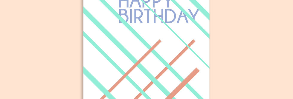 LINES Happy Birthday Modern Greeting Cards