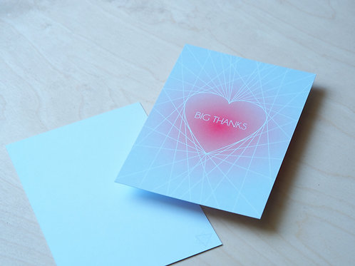 BIG thanks - flat card - pack of 5