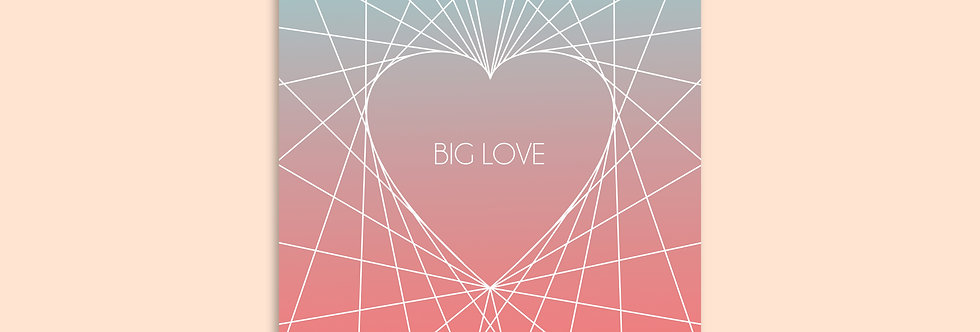 BIG LOVE Modern Greeting Card