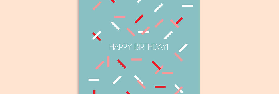 CONFETTI Happy Birthday Modern Greeting Cards