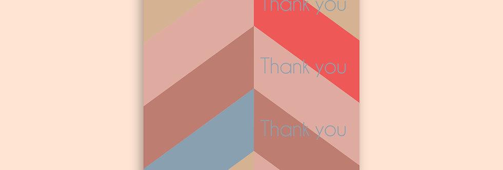 CHEVRON Thank You Modern Greeting Card