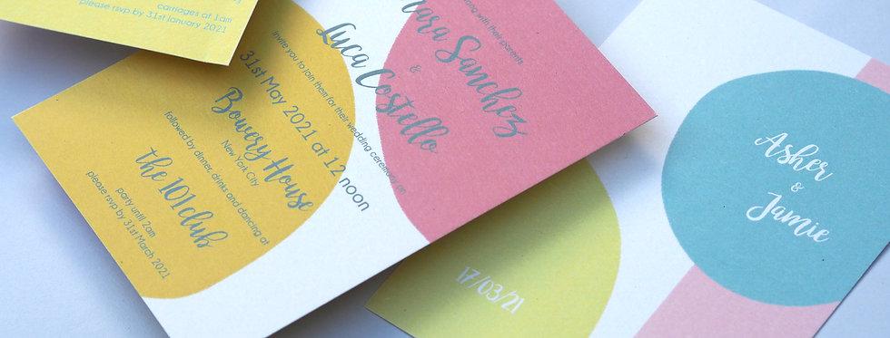 MIAMI Wedding Stationery Suite SAMPLE