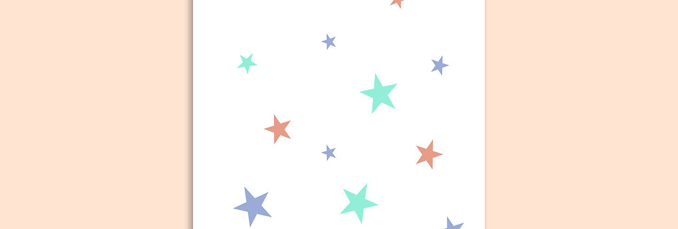 STARS Happy Birthday Modern Greeting Card