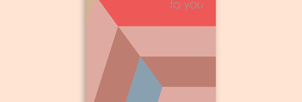 CHEVRON Happy Birthday Modern Greeting Card