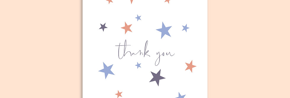 STARS Thank You Modern Greeting Card