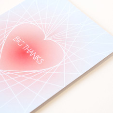 GREETINGS CARDS:  HEART luxe