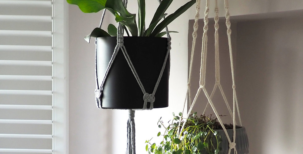 macrame hanging pot plant holder