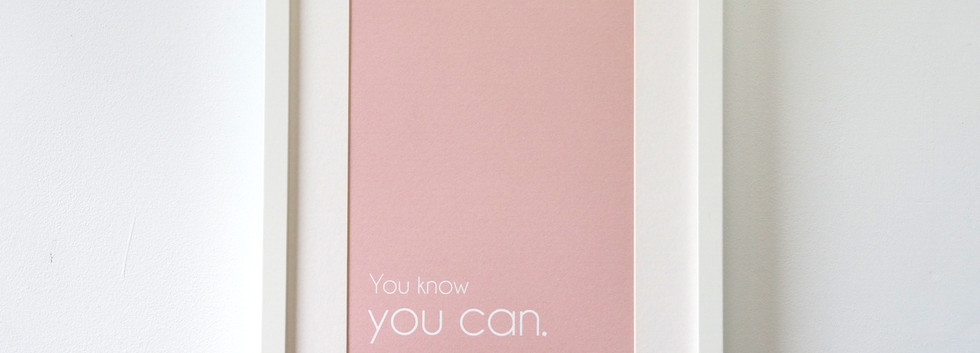 YOU KNOW YOU CAN poster