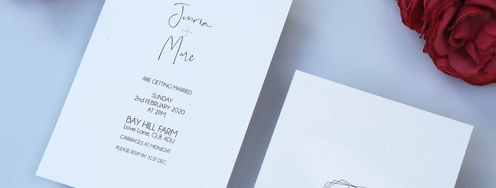 MNMLST Wedding Stationery Suite SAMPLE