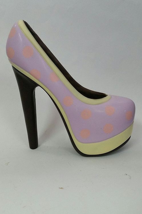 Yellow and Mauve Platform Shoe