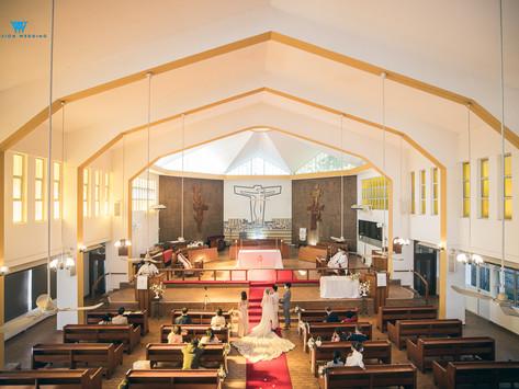 能回到自己的小學教堂行婚禮是幸福事