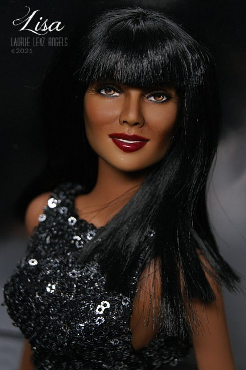"""LISA, an OOAK Repaint Rerooted Tonner Catwoman 16"""" doll"""