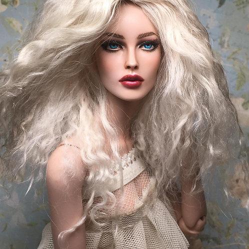 Ash Blonde Tibetan lambswool hard cap wig for Kingdom Doll, Sybarite