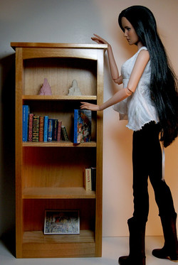 Blond Wood Bookshelf