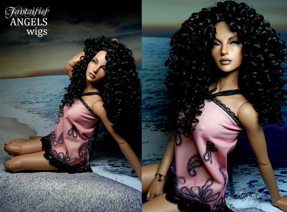 dark chocolate wig