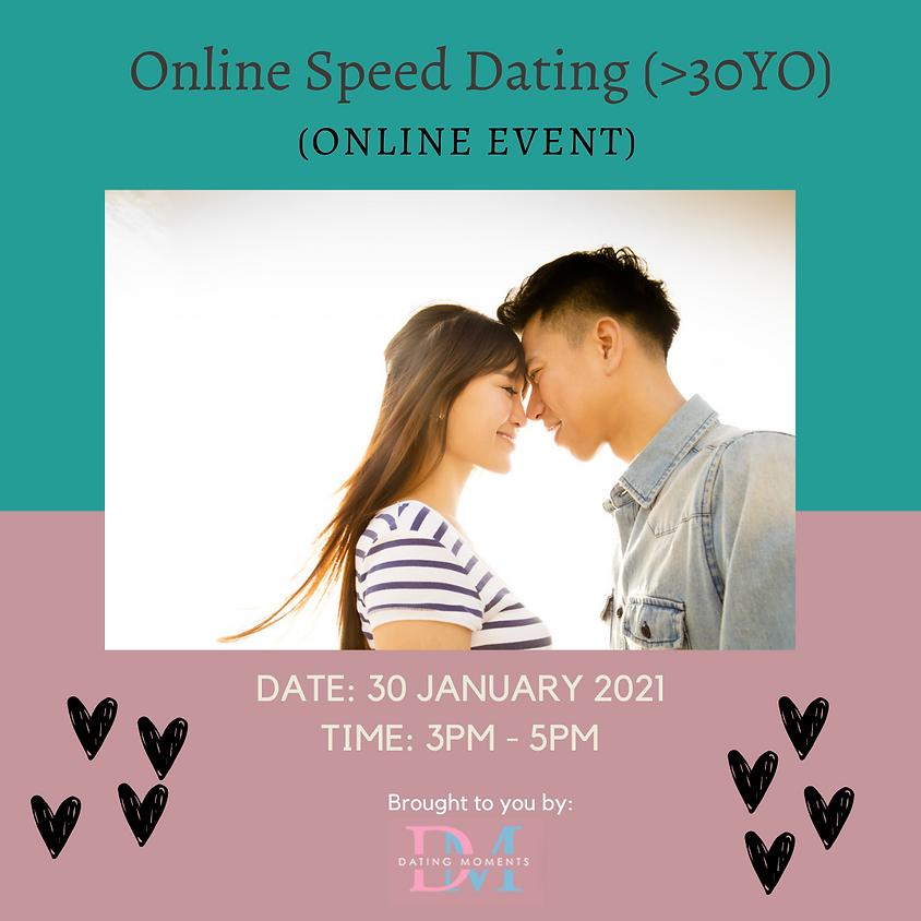 Online Speed Dating (>30 YO) (online)