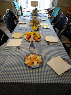 lenten lunch table