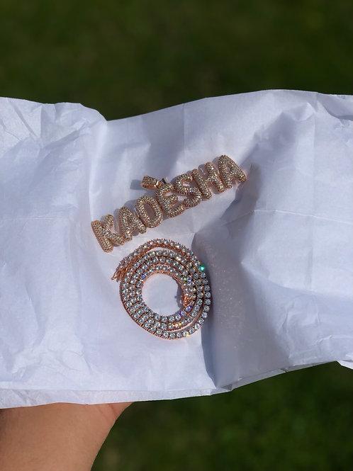 Custom Thin Bubble Pendant