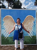 Finally, got to pose with the Angel wing
