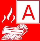 Types of fire, class A