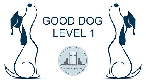 Good Dog Level 1 Online 6 week Training Course