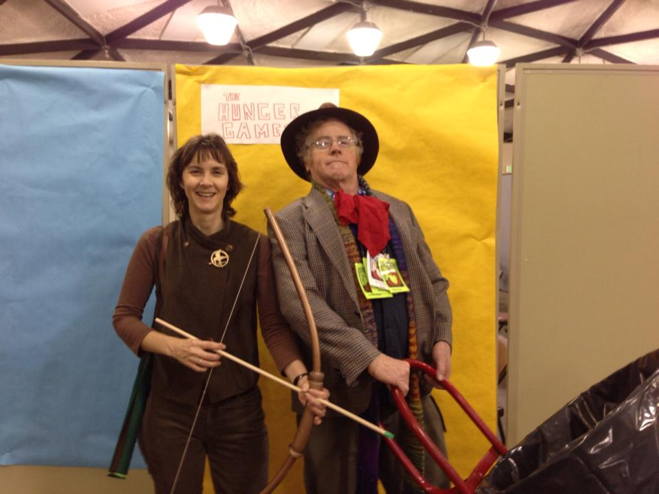 Two organizers of LumaCon pose in costume