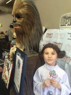 Princess Leia and her Wookie