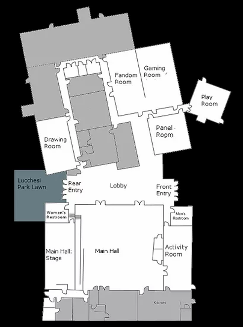A map of the Lucchesi Community center for LumaCon