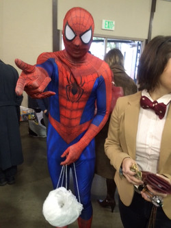 Spiderman casting web by Robin