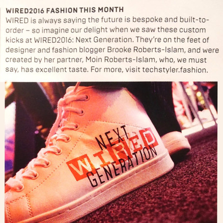Techstyler and Moinart featured in Wired magazine 'Tastemakers' issue