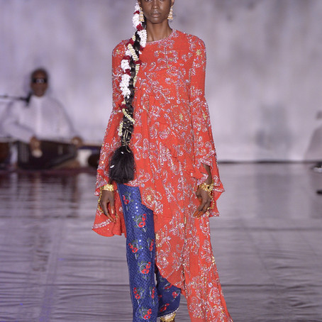 Ashish responds to anti-immigrant sentiment by celebrating his Indian heritage at LFW