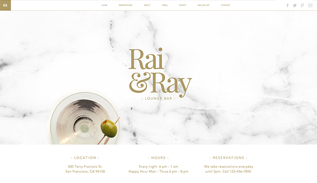 Bar i klub website templates – Lounge Bar