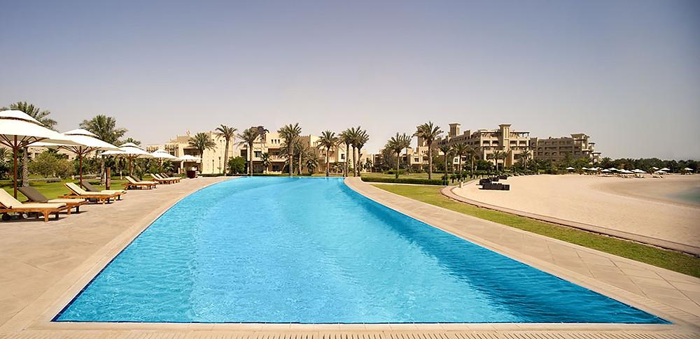 Pool and Beach at Grand Hyatt Doha