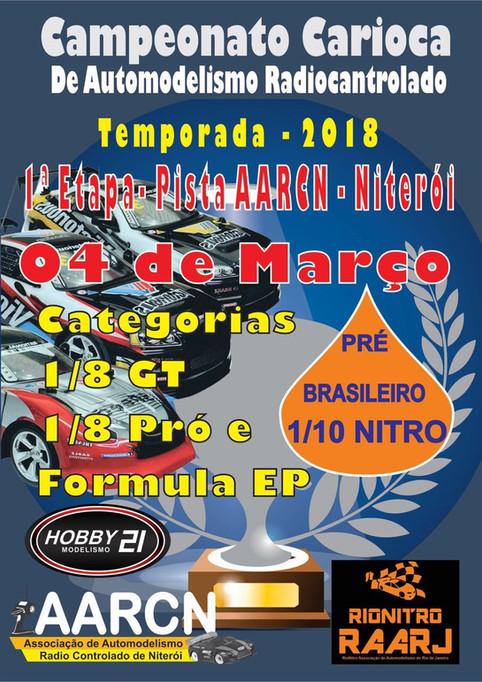 1ª Etapa do Campeonato Carioca de Automodelismo  - 2018