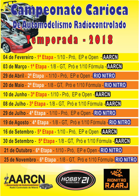 Campeonato Carioca de Automodelismo RC - 2018