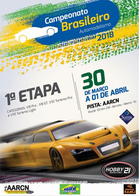 1ª Etapa do Campeonato Brasileiro de Automodelismo - 2018
