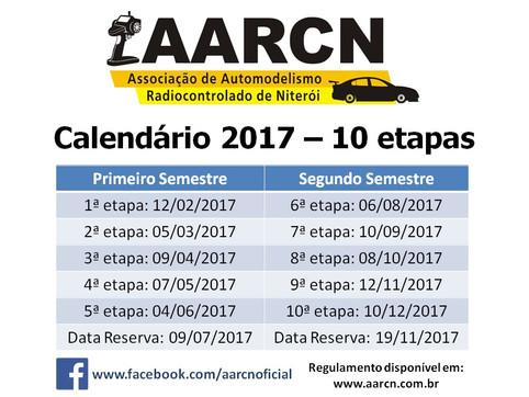 Calendário de 2017