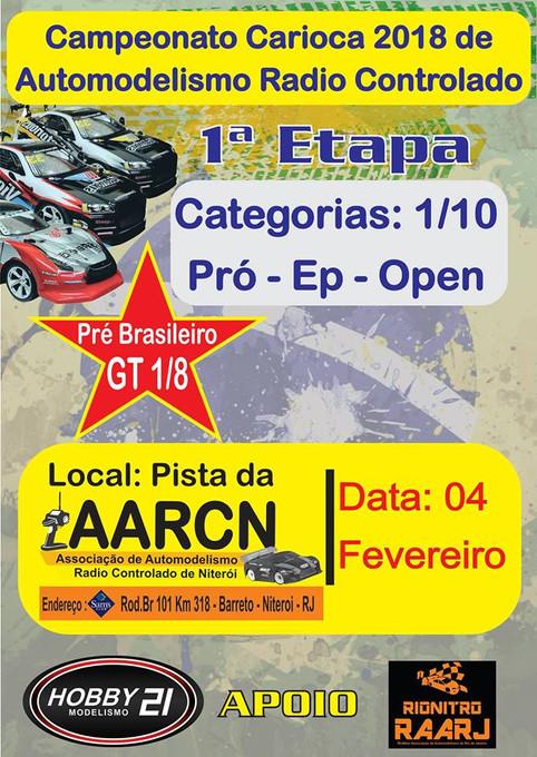 1ª Etapa do Campeonato Carioca de Automodelismo RC - 2018
