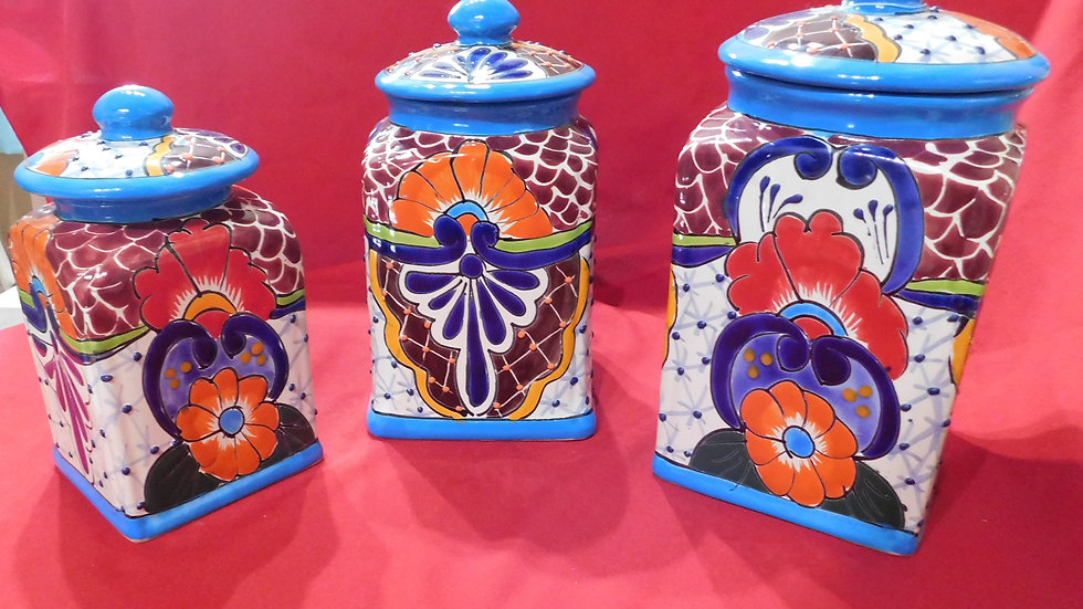 Talavera 3pc Canister Set
