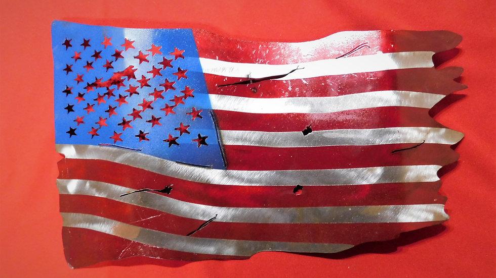 USA Metal Flag